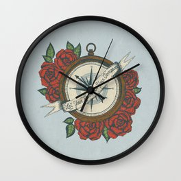 Let Your Heart Be Your Compass Wall Clock