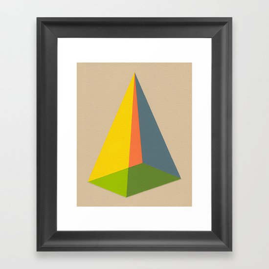 Pyramid Framed Art Print