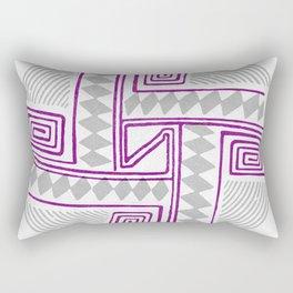 Cerámica –Purple Grey Rectangular Pillow