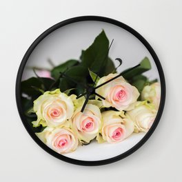 Romantic tender rosesfor beloved only Wall Clock