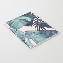 Tropical Summer Jungle Leaves Dream #3 #tropical #decor #art #society6 Notebook