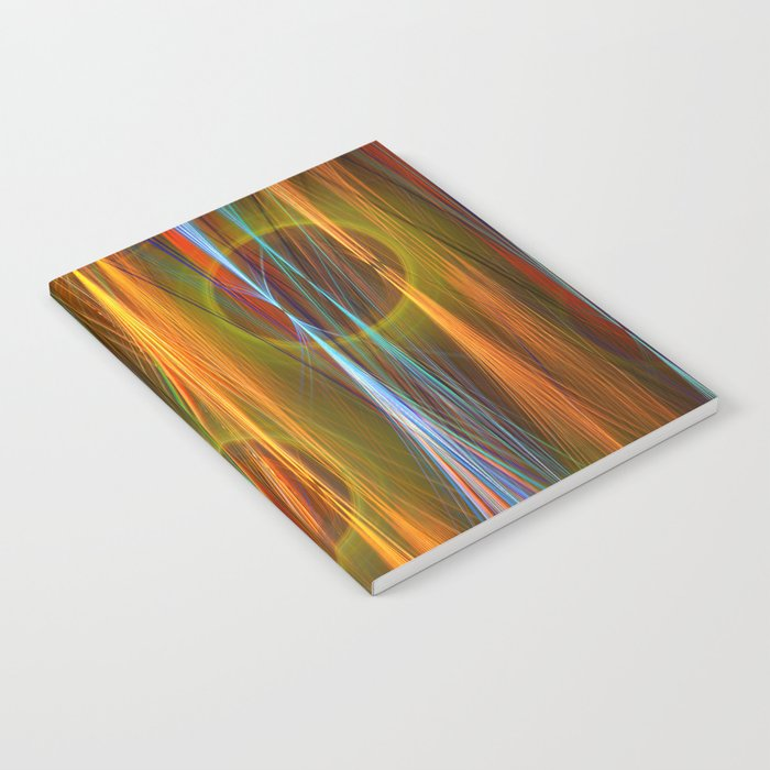 Mirthful, colourful abstract Notebook