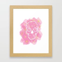 Candy Skull Framed Art Print