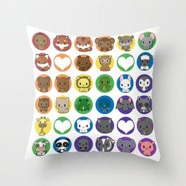 Collective Nouns 01 Throw Pillow