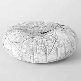 Rome White Map Floor Pillow