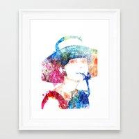 hepburn Framed Art Prints featuring Audrey Hepburn by Heaven7