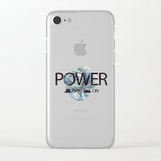 Power on / off Clear iPhone Case