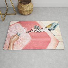 Evening Plans | Vintage Pink Bathroom | Retro Watercolor Rug