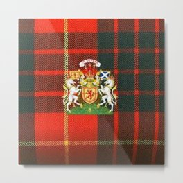 RED & GREEN CAMERON TARTAN ROYAL SCOTLAND Metal Print