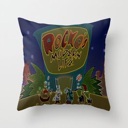 Rocko And The Crew Throw Pillow