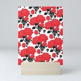 Red and black roses Mini Art Print