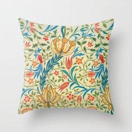 William Morris - Flora - Digital Remastered Edition Throw Pillow