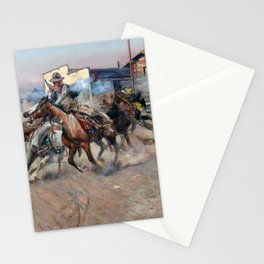 Smoke of a .45 by Charles Marion Russell (1908) Stationery Cards