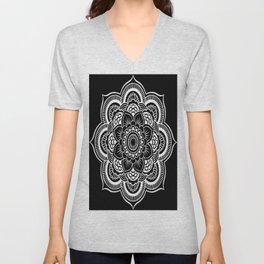 Mandala Black & White Unisex V-Neck