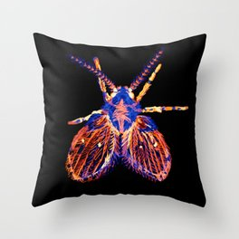 Drain Fly Inverted Throw Pillow