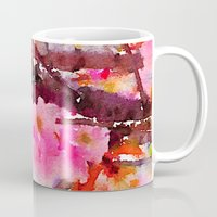 cherry blossom Mugs featuring cherry blossom by her art