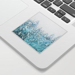 Snowy Pines Sticker