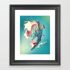 Blind Surfer Framed Art Print