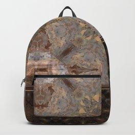 Copper Brown Terracotta Mandala and Tile Backpack