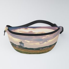 Gathering Storm at Sunset, Cape Cod Lighthouse Fanny Pack