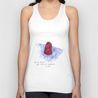 the cure Tank Tops featuring berry cure by The Tiny Fishbowl Collection