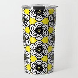 Yellow and Black Flowers Travel Mug