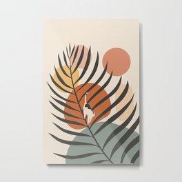 Cat and Plant 32 Metal Print