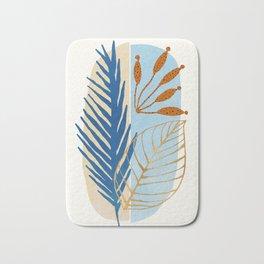 Coastal Botanical - Abstract Nature Design Bath Mat
