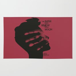 The Man who Knew Too Much, Alfred Hitchcock, minimal movie poster, alternative film playbill, cinema Rug