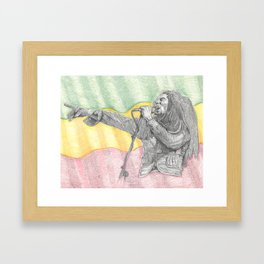 Rasta Portrait  Framed Art Print