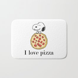 I Love Pizza Bath Mat