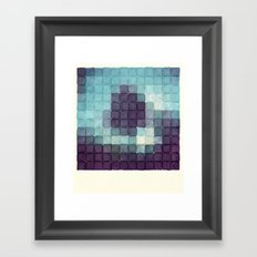 Polaroid Pixels II (Tree) Framed Art Print