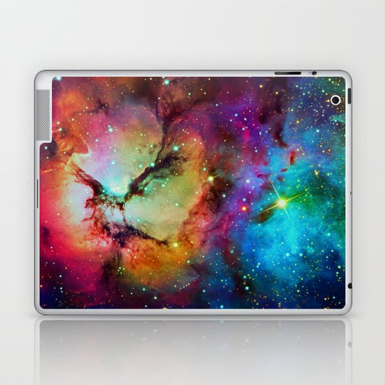 Floral Nebula Laptop & iPad Skin