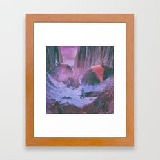 REFRACTION MARCH (everyday 01.29.16) Framed Art Print