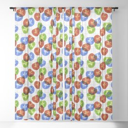 RGB Tomato salad Sheer Curtain