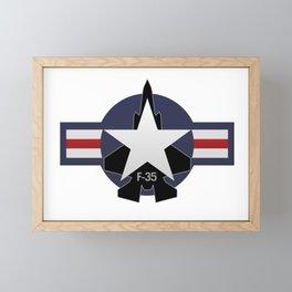 F35 Fighter Jet Airplane - F-35 Lightning II Framed Mini Art Print