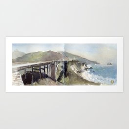 Bixby Creek Bridge, Big Sur, California Art Print