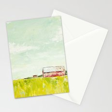 Oil painting house Stationery Cards