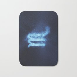 Scorpio Zodiac Sign. Abstract night sky. Bath Mat