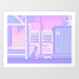 Vending Machines Art Print