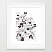 it crowd Framed Art Prints featuring crowd  by Milly Scarlett