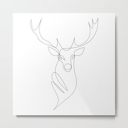 oh deer - one line Metal Print