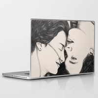 the fault Laptop & iPad Skins featuring The Fault in Our Stars by Eleanor Illustrates