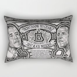 From Chains to Change Poetry by Bakari McClendon Rectangular Pillow