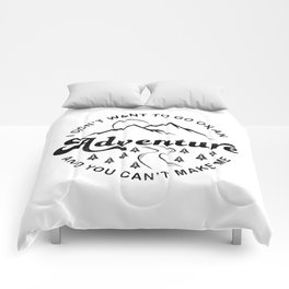 I Don't Want To Go (Black & White) Comforters