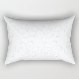Blue Atomic Stars Rectangular Pillow