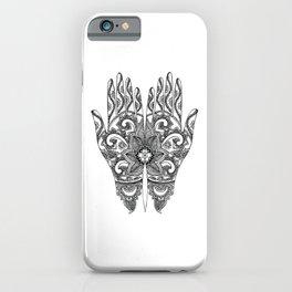Mehndi Tattoo Hands | Ethnic Tattoos | Henna Tattoos | Tattoo Art | Black and White | iPhone Case