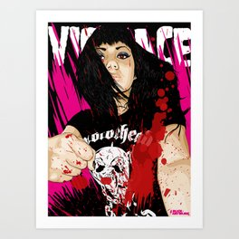 VIOLENCE Art Print