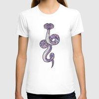 anaconda T-shirts featuring Pastel Anaconda by schillustration