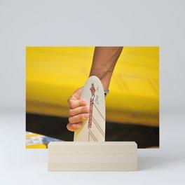 The surfer's hand  Mini Art Print